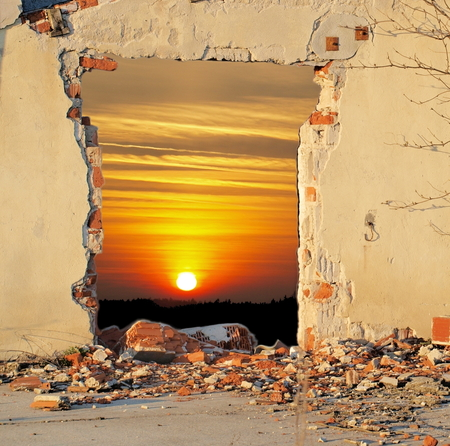Hole in the Wall, South Bohemia, Czech Republic photo