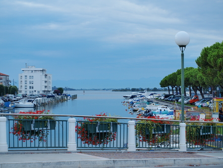evening in the harbor, Grado, Italy photo