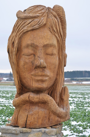 czech culture: woman Stock Photo