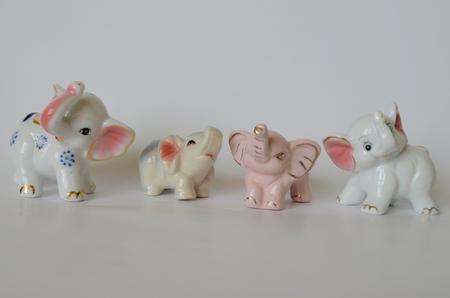 bohemia: porcelain elephants for good luck, South Bohemia, Czech Republic