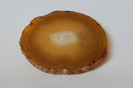 mineralogy: agate, concentrically layered fine and coarse variety of chalcedony, Czech Republic