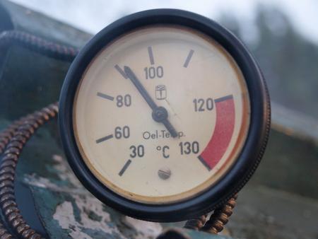 republik: thermometer traditional rural smokehouse, southern Bohemia, Czech Republic