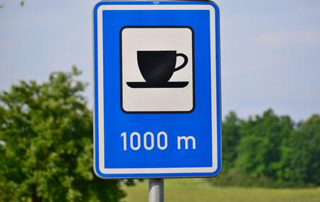 refreshment: traffic sign refreshment, South Bohemia, Czech Republic