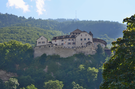 princely: Castle Vaduz Castle, formerly Also Called Hohenliechtenstein, the official residence of the Liechtenstein Princely family. Stock Photo
