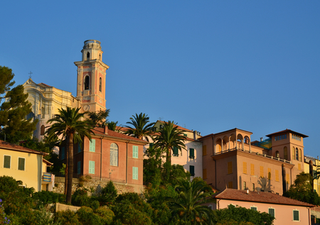 castello: view of the historical part of the town of Diano Castello, Liguria, Italy,
