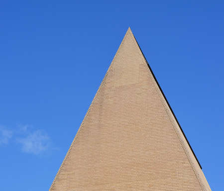 characterization: conical roof of a brick, The parliament building, Vaduz, Liechtenstein