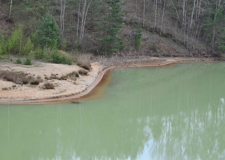 sand quarry: reclamation of mined sand quarry Cep II, South Bohemia, Czech Republic