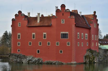 bohemia: beautiful castle historical monument Cervena Lhota , South Bohemia. Czech Republic Editorial