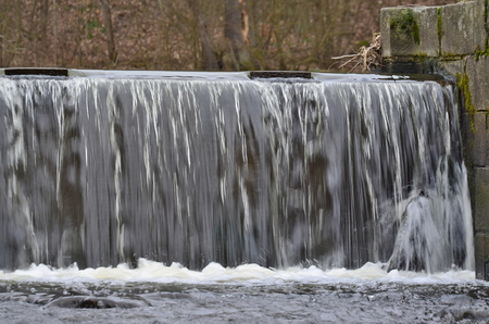 bohemia: dam on river Nezarka, South Bohemia, Czech Republic