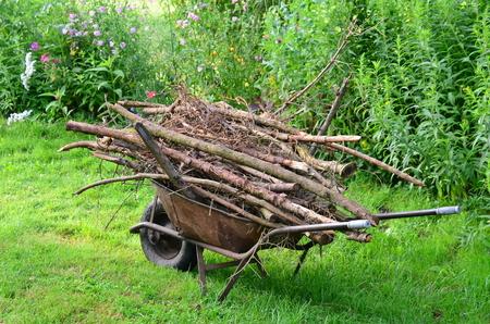 biomasa: Rural tradicional transporte de madera de utilidad, Bohemia del Sur, República Checa