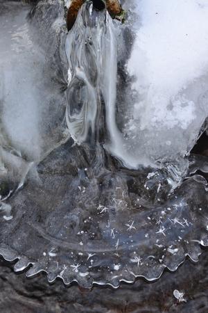natural ice shapes, South Bohemia, Czech Republic