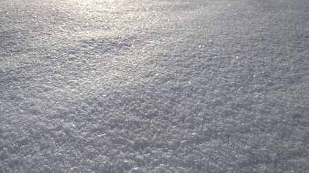 Structure of snow surface, South Bohemia, Czech republic Stock Photo