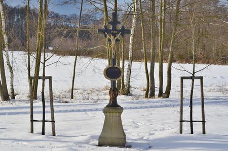 historical religious monument. South Bohemia, Czech Republic