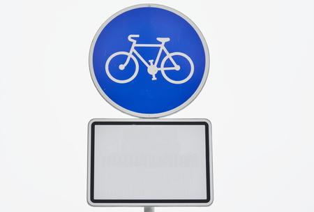 traffic sign, cycling, South Bohemia, Czech Republic Stock Photo