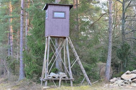 wildlife observation point. Niederösterreich, Austria