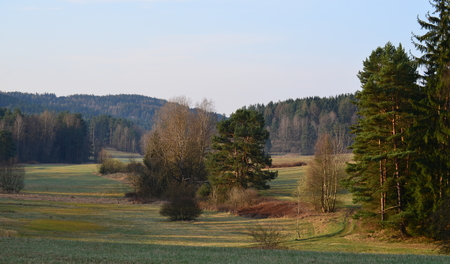 view of the spring countryside, South Bohemia, Czech Republic
