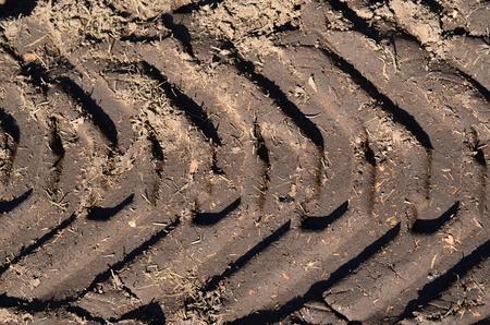 tire tracks in the dirt , Czech Republic