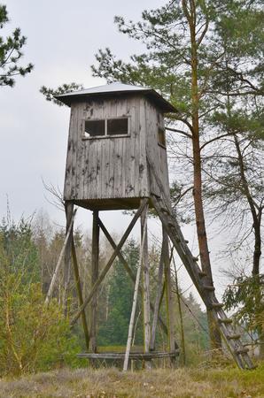 wildlife observation point. Niederosterreich, Austria
