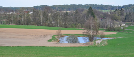 lake heart shape in the landscape of Niederosterreich, Austria