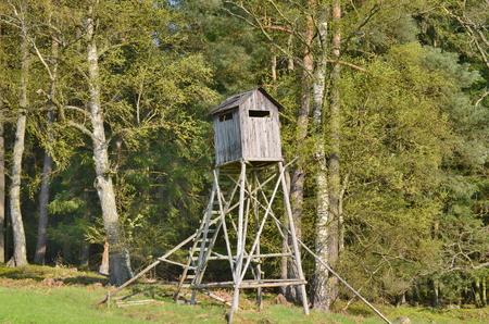 wildlife observation point. South Bohemia