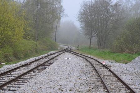 unique historic narrow-gauge railway. South Bohemia, Czech Republic Stock Photo