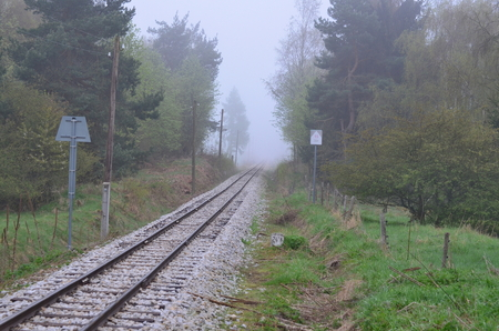 Unikátní historická úzkokolejka. Jižní Čechy, Česká republika