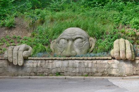 statue spirit gory parkowej, lázeňský park, Kudowa Zdroj, Polsko