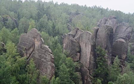 skalní útvary, Broumovská skála Národní přírodní rezervace, Česká republika Reklamní fotografie