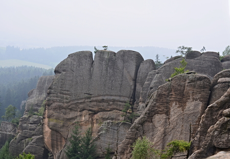 rock formations, Broumov rock National Nature Reserve, Czech Republic