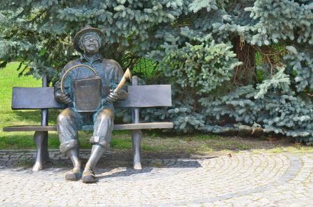 socha zahradníka, lázeňský park, Kudowa zdroj, Polsko