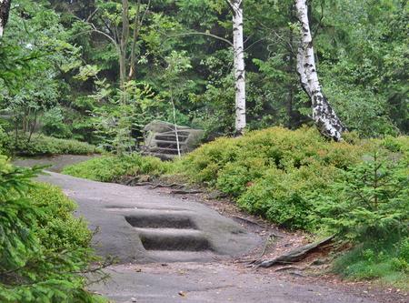 skalní útvary, Broumovská skála Národní přírodní rezervace, Česká republika Reklamní fotografie - 88768778