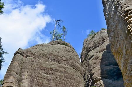 skalní útvary, Národní přírodní rezervace Adršpač-Teplice, Česká republika Reklamní fotografie - 89633736