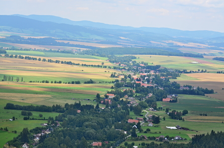View of the countryside, Broumov area, Czech Republic Stock Photo