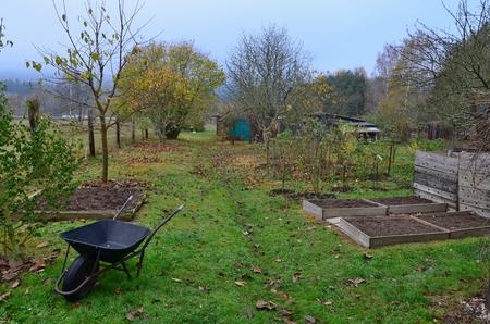 Podzim v zahradě, Jižní Čechy, Česká republika Reklamní fotografie - 90413311