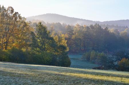 podzimní krajina, jižní Čechy. Česká republika Reklamní fotografie - 90996551