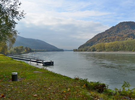 view of the Danube River, region Wachau, Austria Reklamní fotografie - 90806758