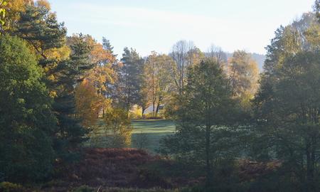 autumn landscape, southern Bohemia . Czech Republic Reklamní fotografie - 92913491