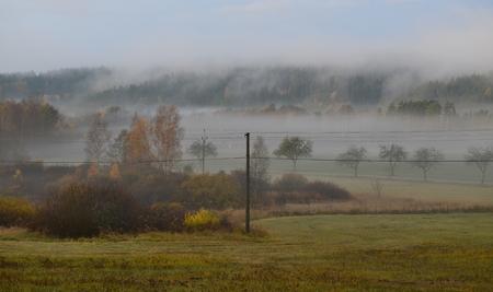 autumn landscape, southern Bohemia . Czech Republic Reklamní fotografie - 92881520
