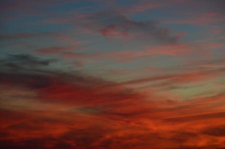 background of sunset, southern Bohemia, Czech Republic