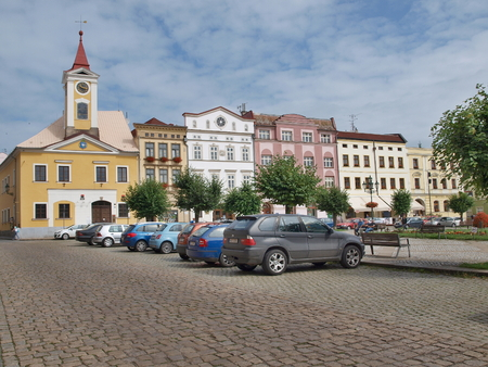 historical square, town of Broumov, Eastern Bohemia, Czech Republic