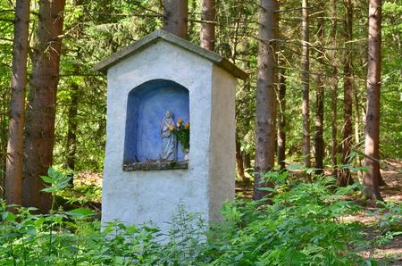 view of historical religious monument. South Bohemia, Czech Republic Stock Photo
