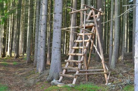 wildlife observation point. South Bohemia, czech republic Reklamní fotografie - 102981609