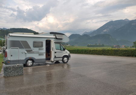 holidays with campervan in the foothills of the Alps, Austria