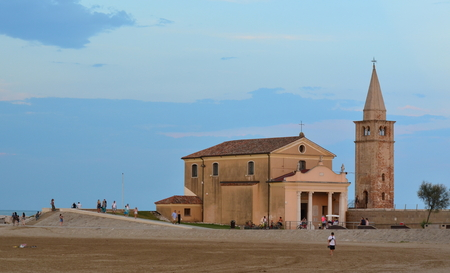 Church Santuario della Madonna dellAngelo, rebuilt in the 17th century on the foundations of the original church, Caorle, Italy