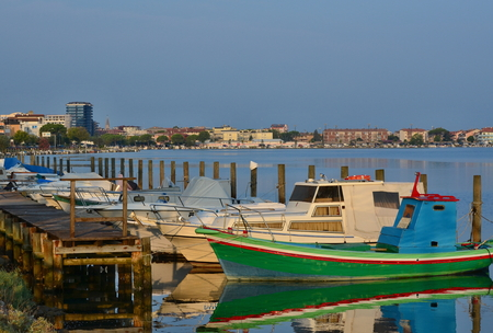 morning view of the harbor, Grado, Italy Reklamní fotografie