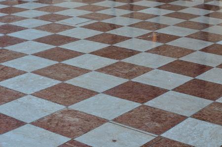 marble pavement, chessboard shape, Palmanova, Friuli Venezia Giulia region of Italy Reklamní fotografie