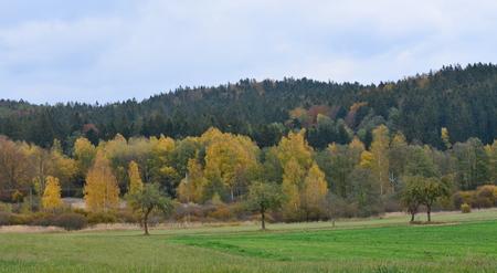 autumn landscape, southern Bohemia . Czech Republic