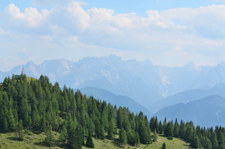 Gailtal Alps, view from the hiking trail on the mountain Dobratsch, Carinthia, Austria Reklamní fotografie