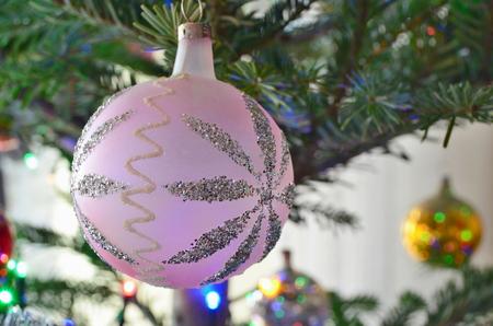 traditional Czech Christmas decorations, South Bohemia, Czech Republic Stock Photo