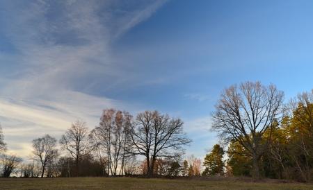 view of autumn landscape, southern Bohemia, Czech Republic